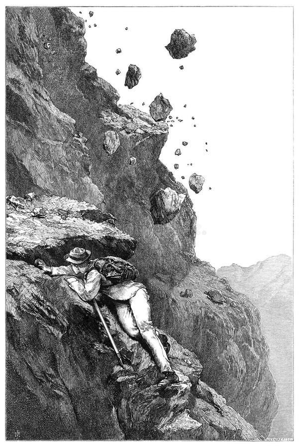 Cannonade on the Matterhorn stock photography