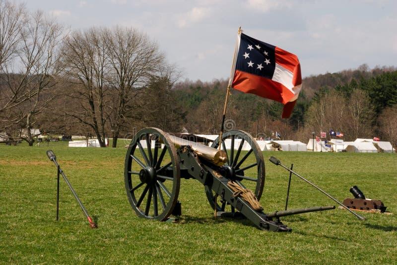 Cannone confederato immagini stock