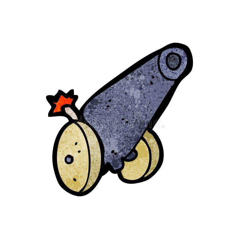 cannone del fumetto illustrazione di stock