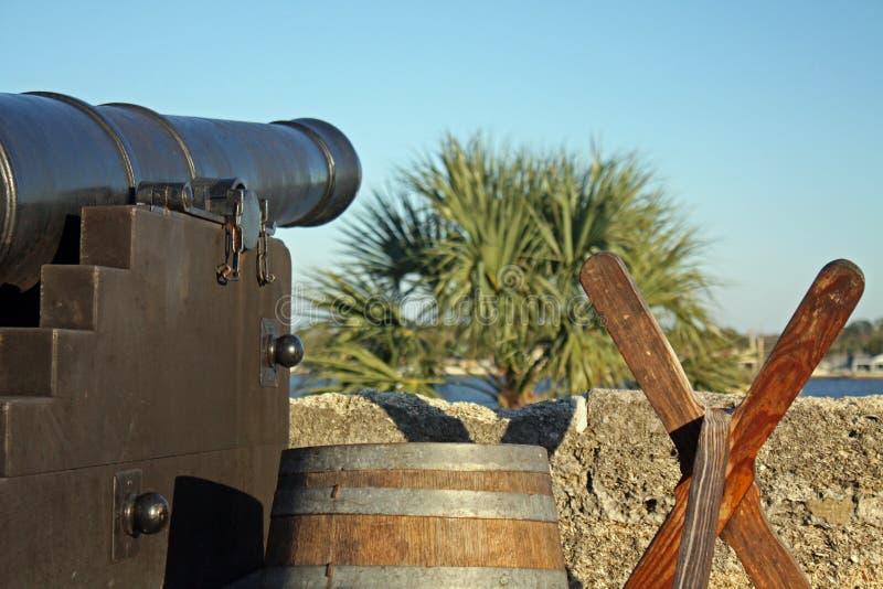 Cannone della fortificazione immagine stock libera da diritti