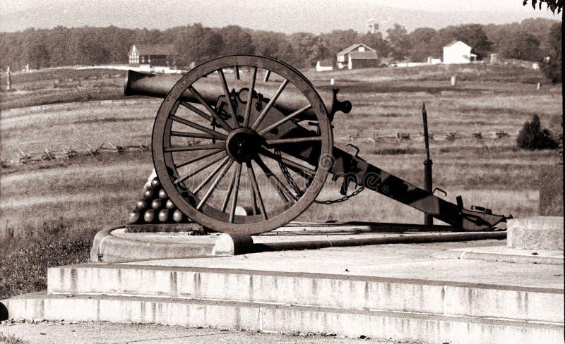 Cannone di battaglia a Gettysburg immagine stock libera da diritti