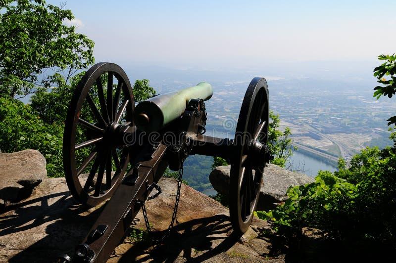 Cannone di guerra civile immagini stock libere da diritti