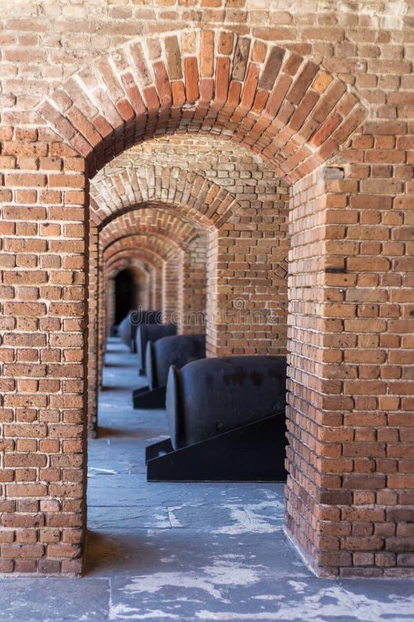 Cannone e arché fotografie stock