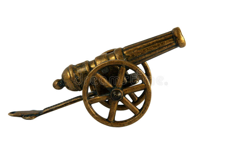 Cannone miniatura bronzeo antico immagini stock libere da diritti