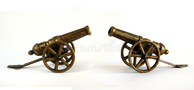 Cannone miniatura bronzeo antico fotografie stock
