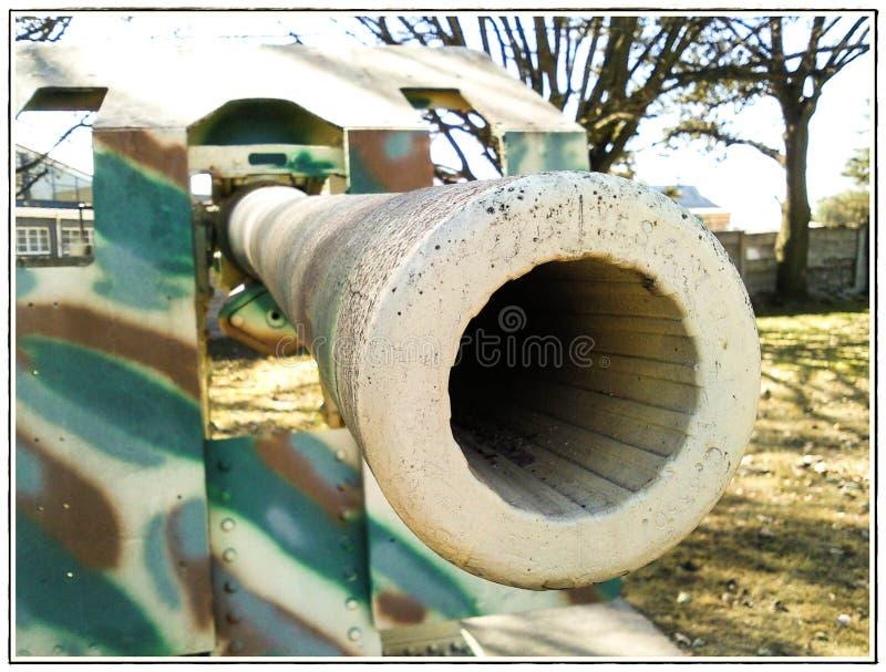 Cannone storico di guerra fotografia stock