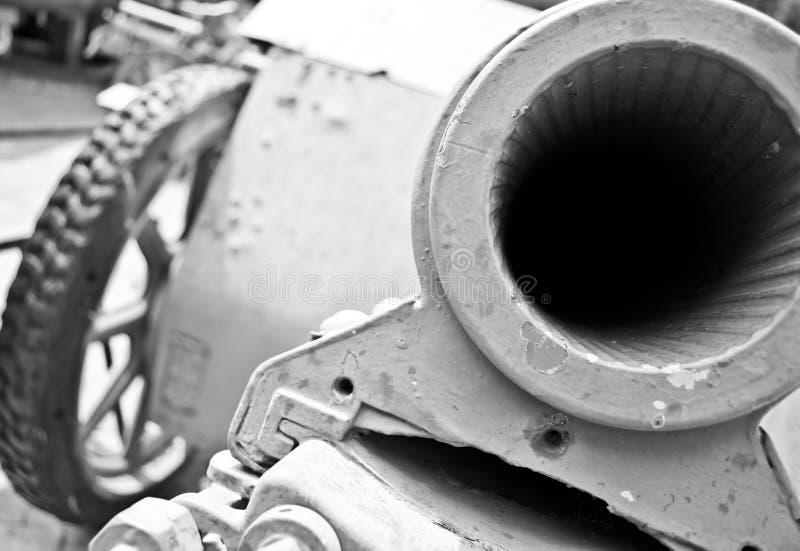 Cannone WW2 immagine stock
