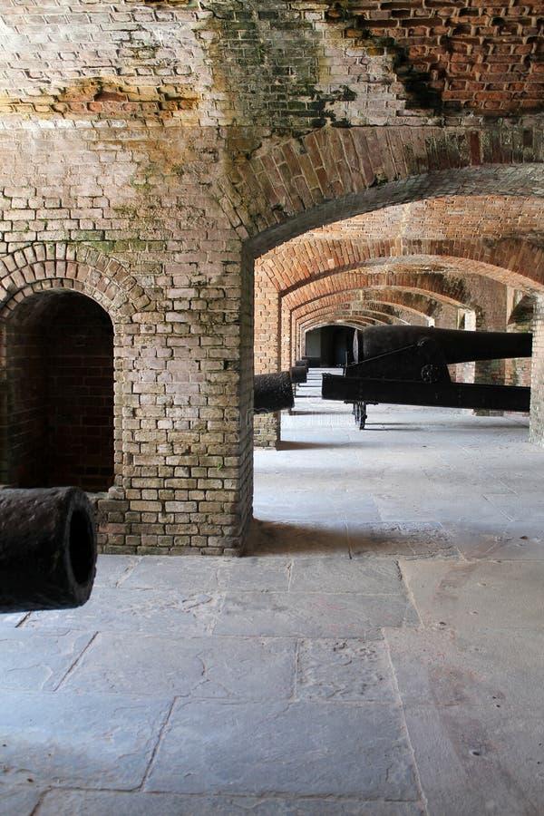Cannoni in bunker forte fotografia stock