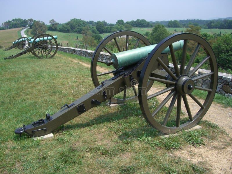 Cannoni confederati fotografia stock