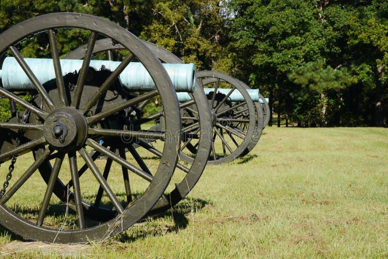 Cannoni della guerra civile immagini stock