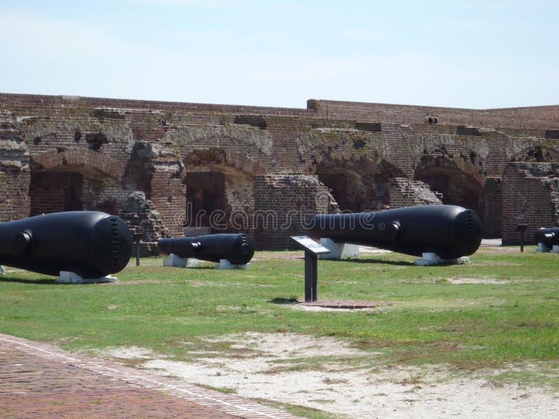 Cannoni forti di Sumter fotografie stock libere da diritti