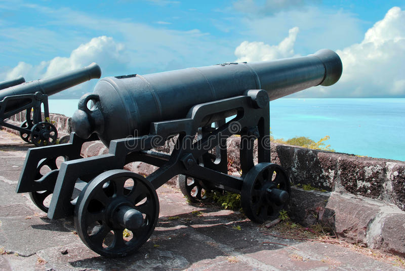 Cannoni nella fortificazione di St George immagini stock libere da diritti