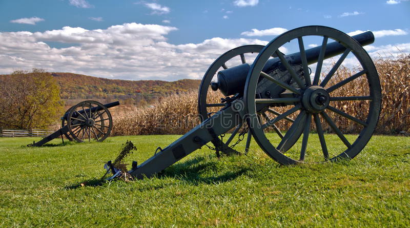 Download Cannons At Antietam National Battlefield Stock Photo - Image: 28114456