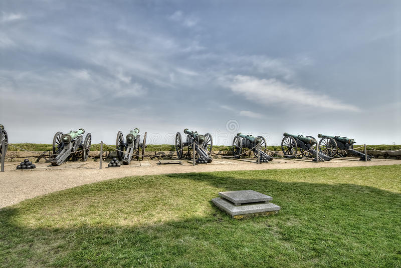 Download Cannons At Hamlet's Castle Of Kronborg Royalty Free Stock Photos - Image: 24596418