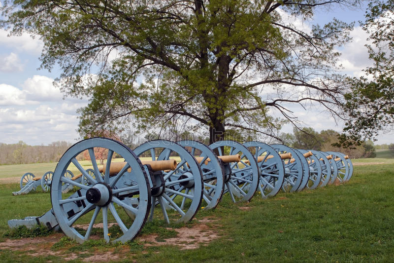 Cannons at Valley Forge. Revolutionary War cannons on display at Valley Forge National Historical Park,Pennsylvania,USA stock image