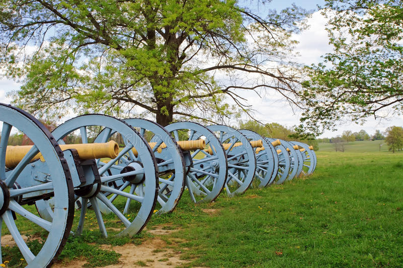 Cannons at Valley Forge. Revolutionary War cannons on display at Valley Forge National Historical Park, Pennsylvania, USA royalty free stock image