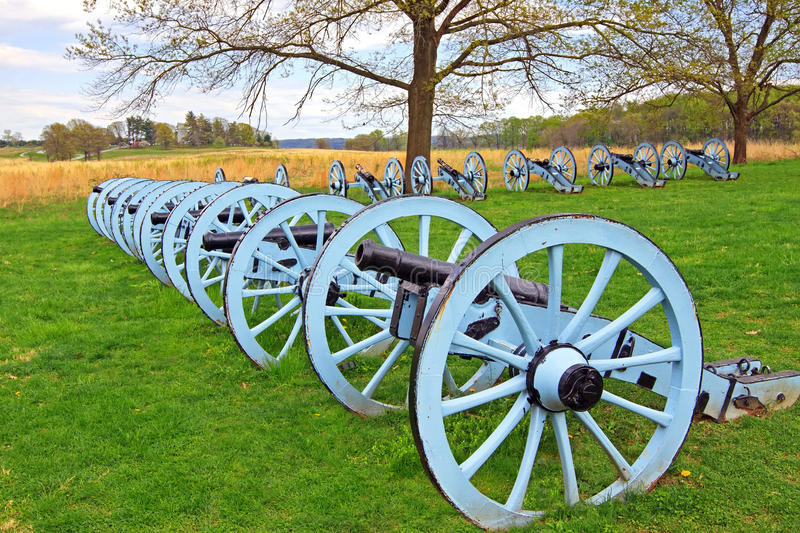Cannons at Valley Forge. Revolutionary War cannons on display at Valley Forge National Historical Park, Pennsylvania, USA stock image