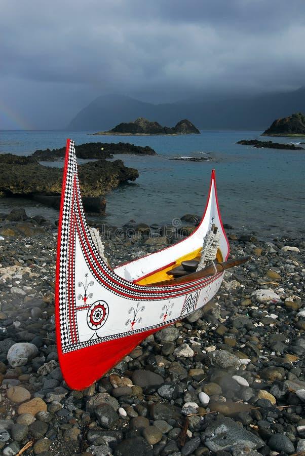 Canoë de Lanyu images libres de droits