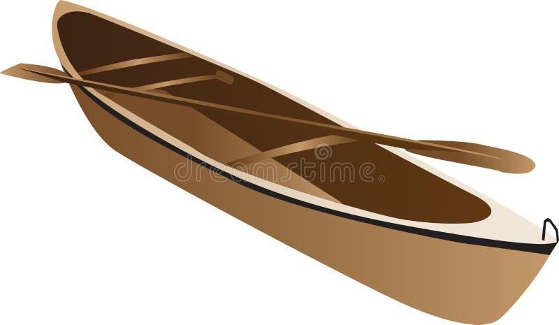 Canoë en bois illustration libre de droits