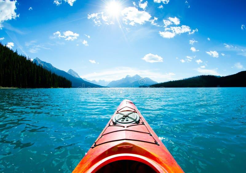 Canoë et kayak dans le Canada photo libre de droits