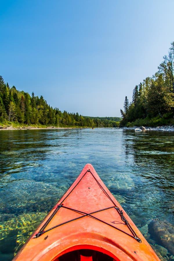 Canoë par la rivière de Bonaventure photos libres de droits