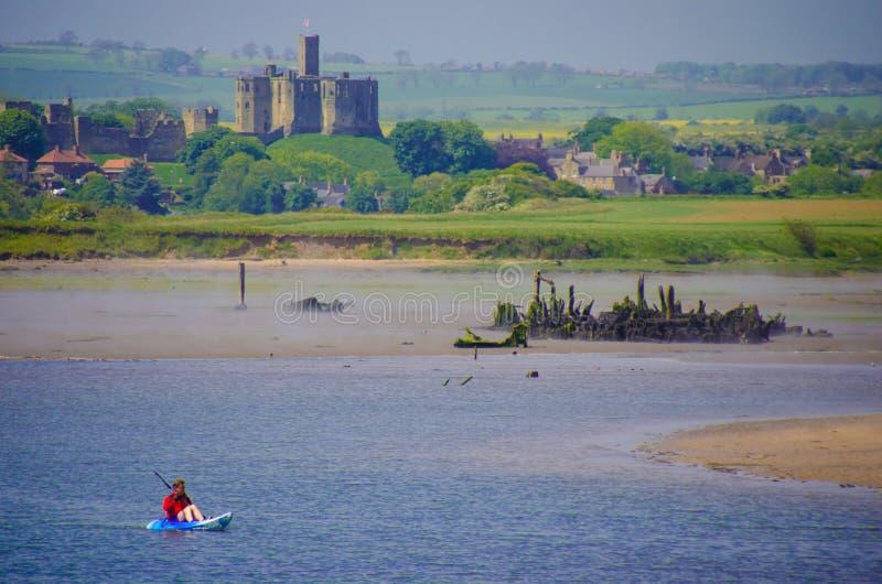 Canoísta em Northumberland fotografia de stock royalty free