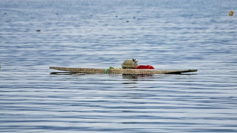 Canoa da pesca foto de stock royalty free
