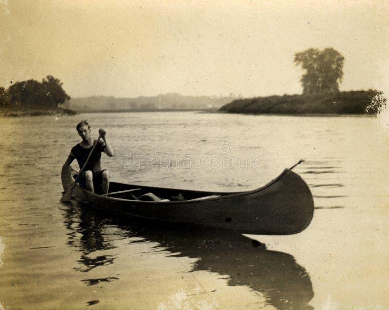 Canoa do vintage foto de stock