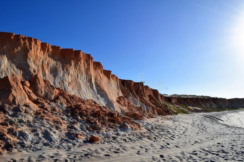 Canoa Quebrada strand royaltyfri fotografi