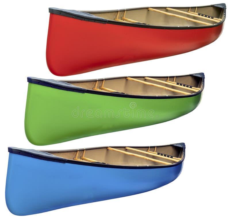Canoa in tandem isolata immagine stock