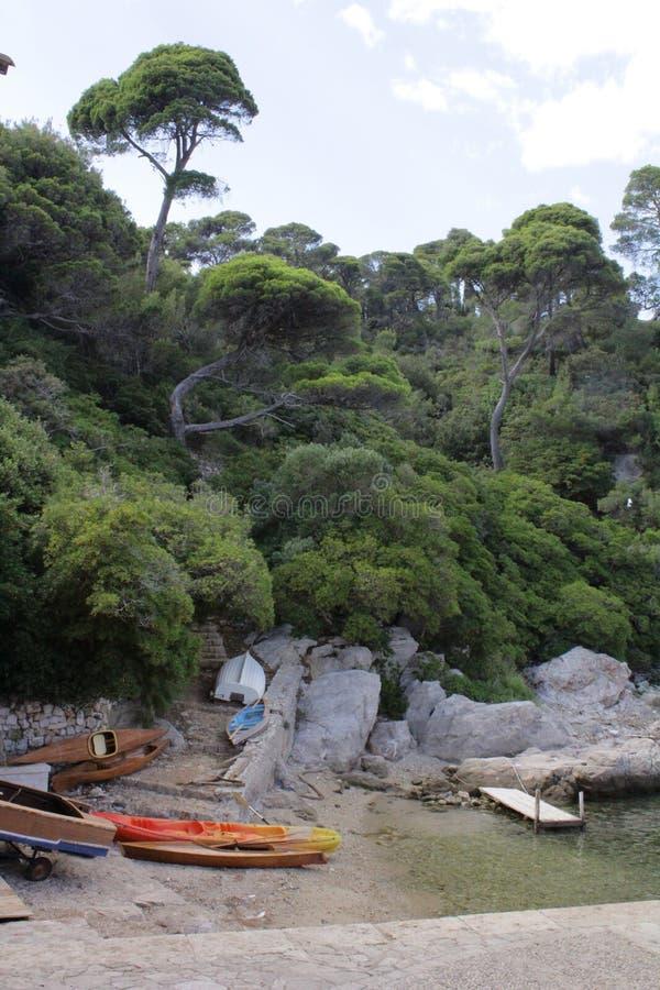 Canoe all'isola di Lokrum immagini stock libere da diritti