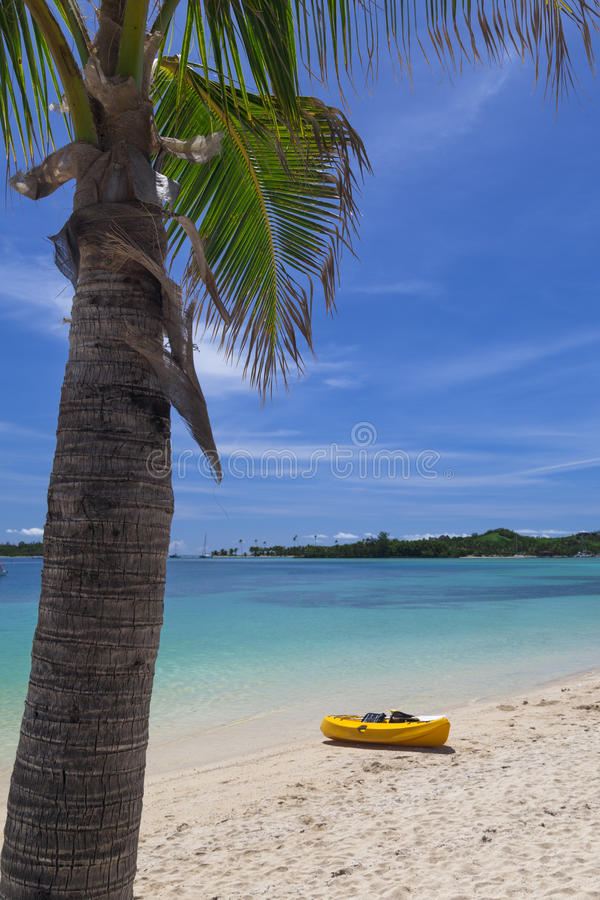 Download Canoe on beach stock image. Image of nature, blue, summer - 30543469