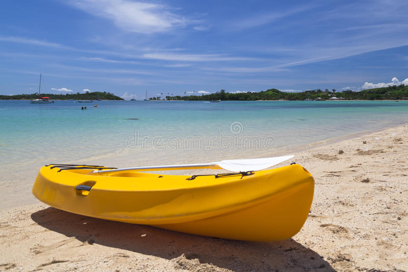 Download Canoe on beach stock image. Image of travel, tree, palm - 30543517
