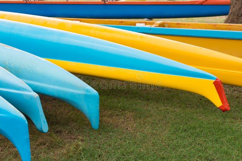 Canoe di intelaiatura di base della gru hawaiane fotografie stock libere da diritti