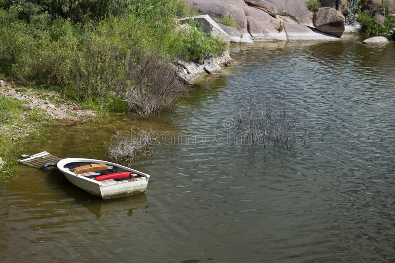 Canoe dock stock photography