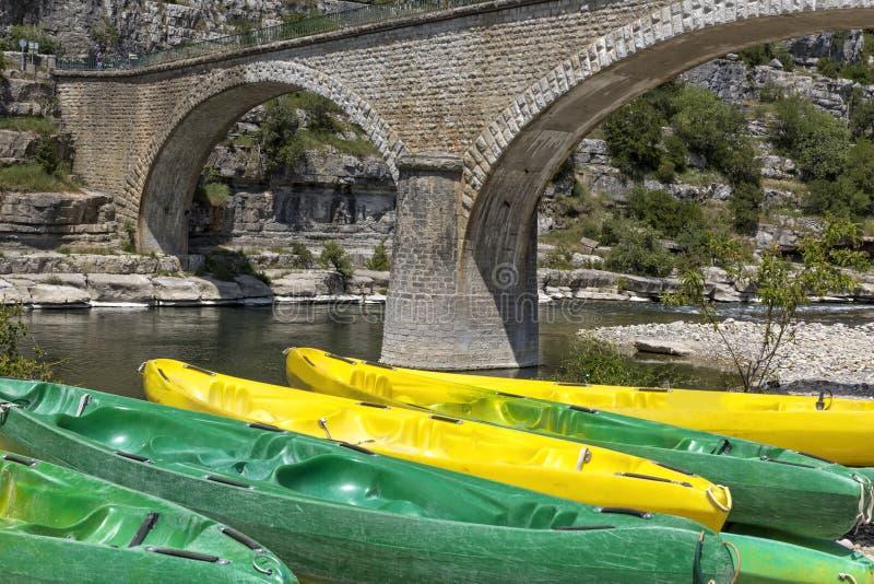 Canoe in Francia del sud fotografie stock libere da diritti