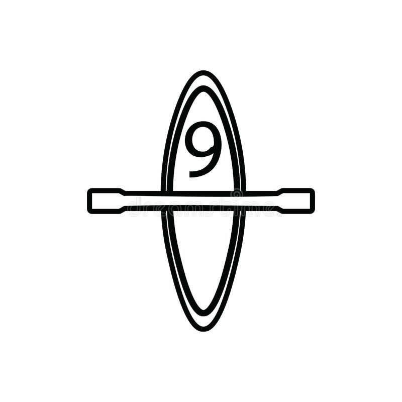 Canoe icon. Element of Sport for mobile concept and web apps icon. Outline, thin line icon for website design and development, app royalty free illustration