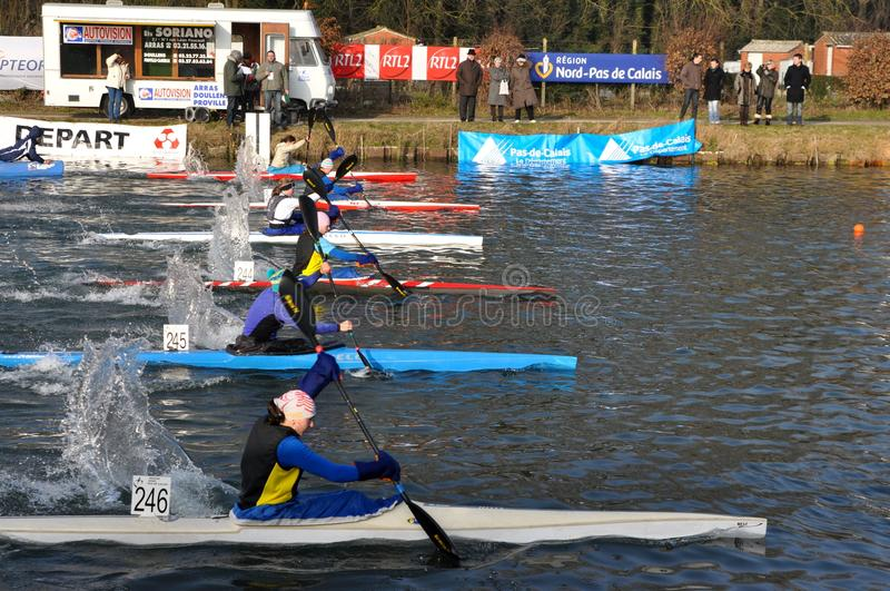 Download Canoe and kayak race editorial stock photo. Image of water - 18183818