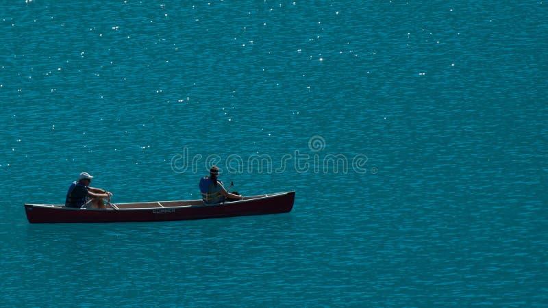 Canoe on Morraine Lake royalty free stock image