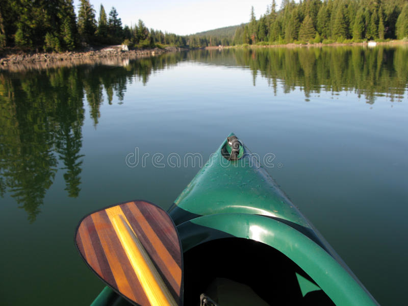 Download Canoe and Paddle stock image. Image of wooden, lake, water - 10657951