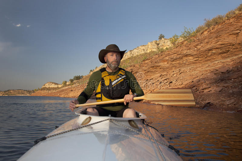 Download Canoe paddling in Colorado stock image. Image of horsetooth - 16222517