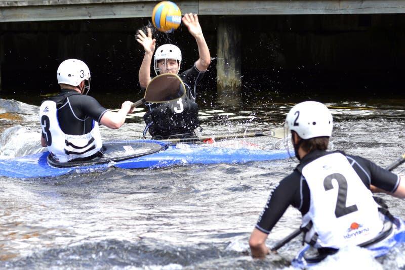 Canoe Polo Championships royalty free stock photo