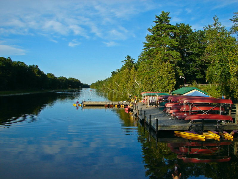 Canoe Rental royalty free stock images