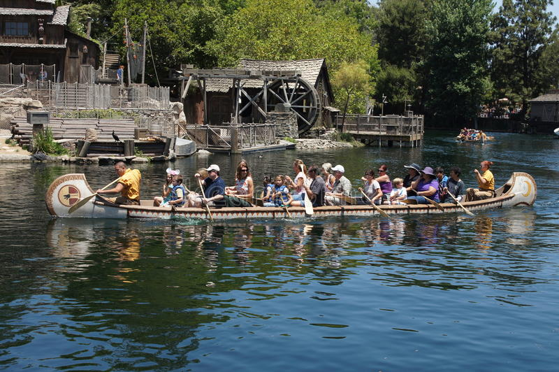 Canoe Ride Disneyland stock photography