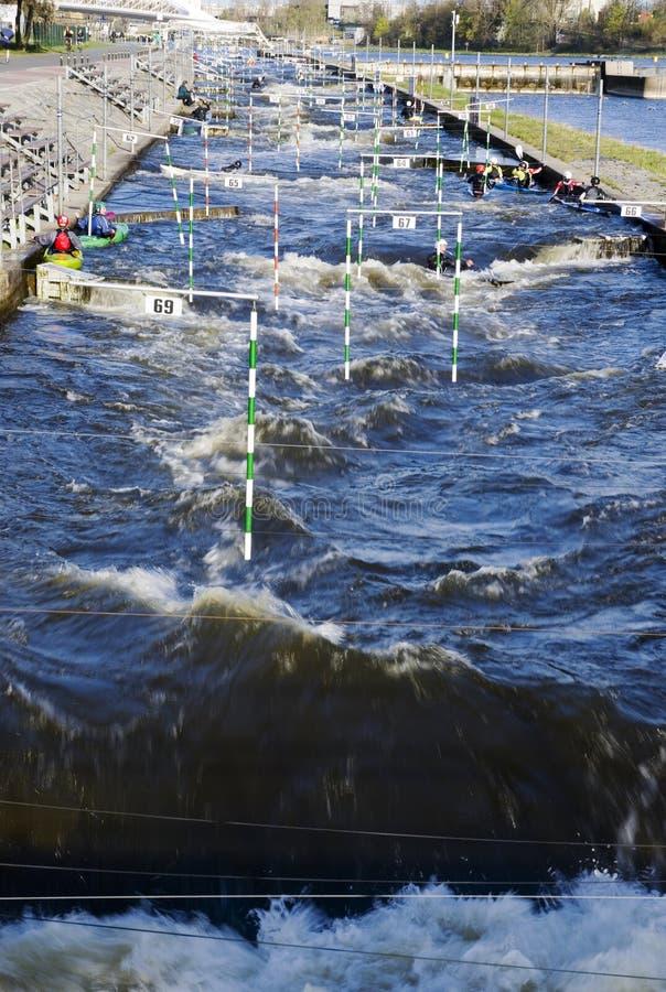 Canoe slalom canal royalty free stock images