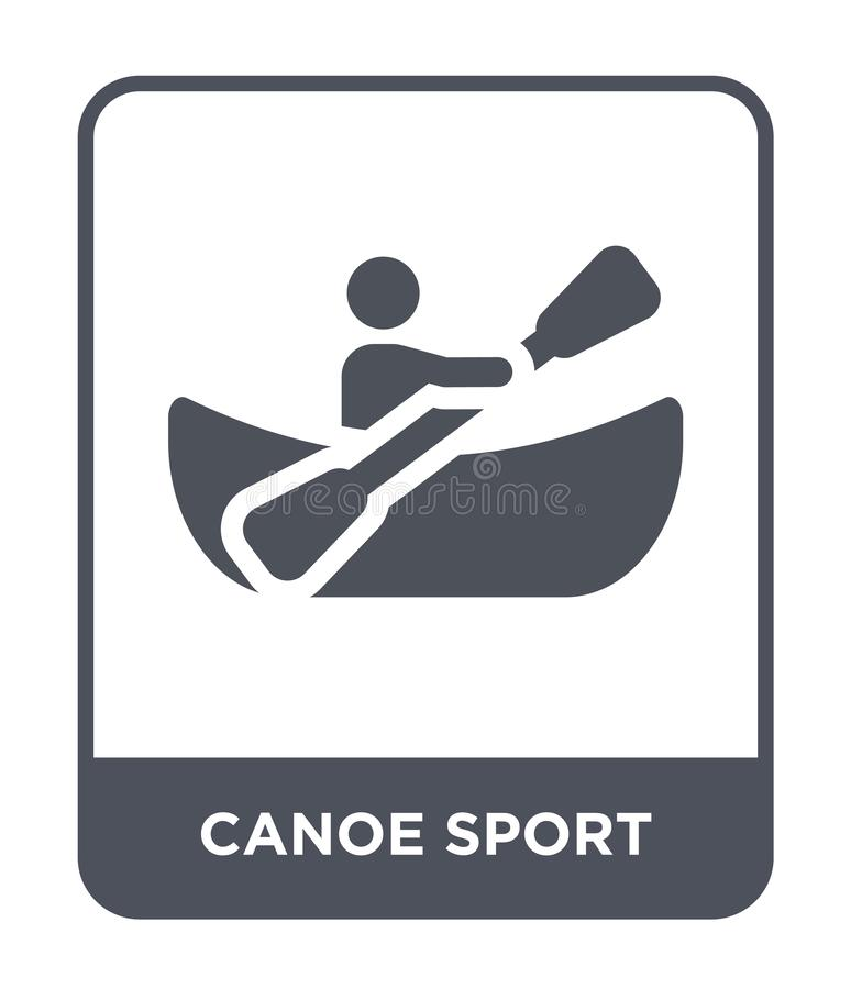 canoe sport icon in trendy design style. canoe sport icon isolated on white background. canoe sport vector icon simple and modern stock illustration