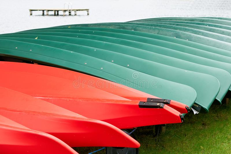 Canoe su un affitto della barca immagini stock libere da diritti
