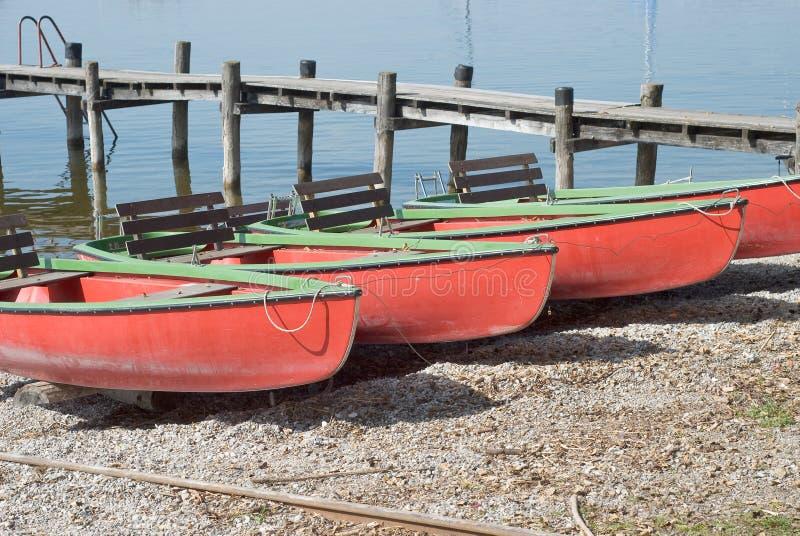 Canoe sul puntello immagini stock