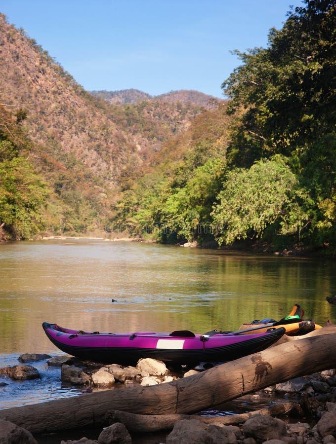 Canoe On Waters Edge Royalty Free Stock Photos