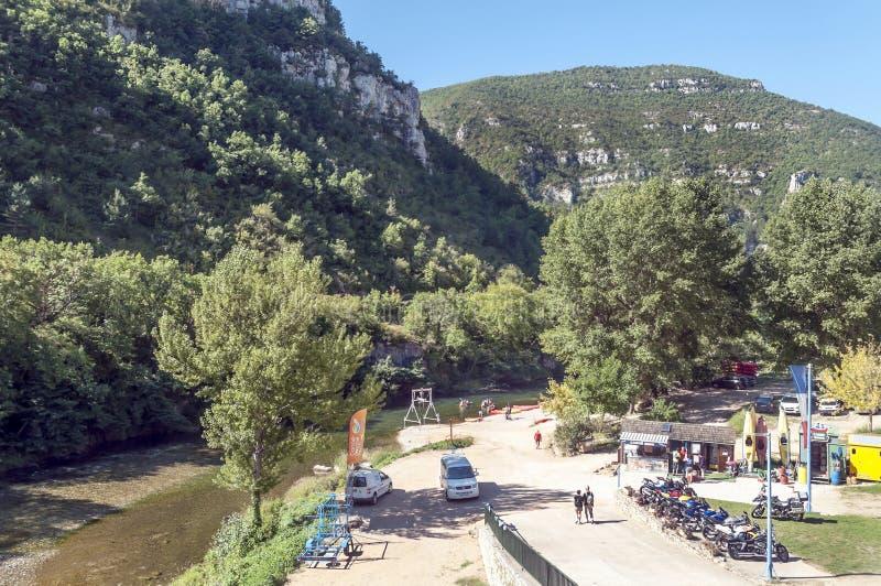 Canoeing центр в Madele стоковые изображения